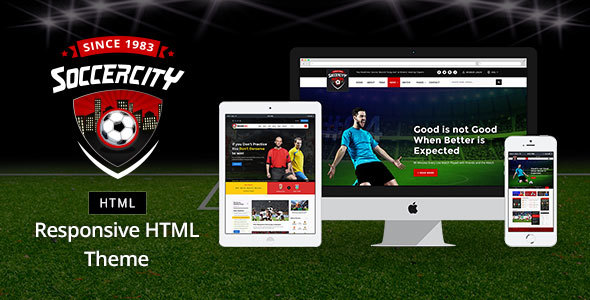 Soccer Sports – Soccer & Sports HTML Template