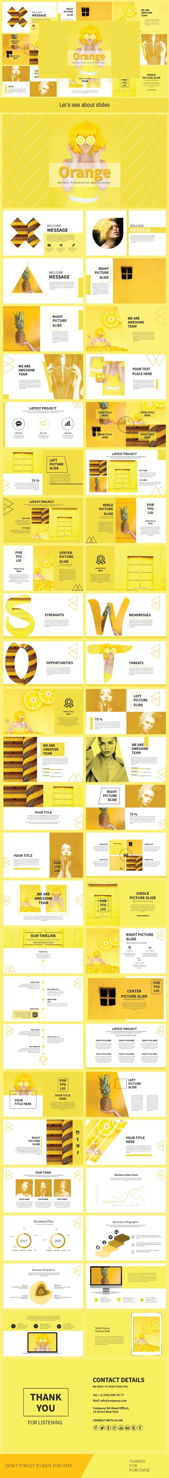 Orange Multipurpose Template - Creative PowerPoint Templates