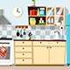 Kitchen with Furniture  - GraphicRiver Item for Sale