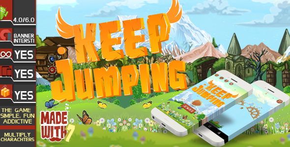 Keep Jumping Game Template | Admob (Banner + Interstitial ) +in game purchase - CodeCanyon Item for Sale