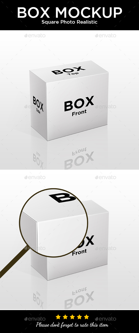 Box Mockup - Photo Realistic Quality - Miscellaneous Packaging