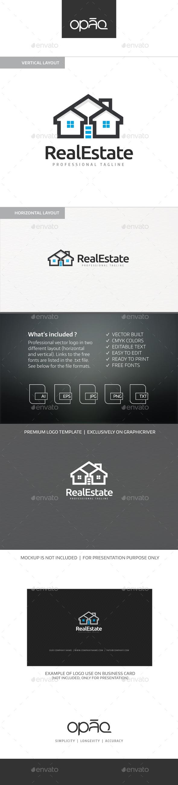 Real Estate Homes Logo - Buildings Logo Templates