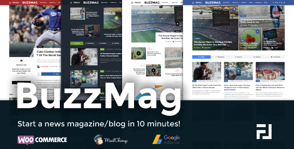 BuzzMag - Viral News WordPress Magazine/Blog Theme