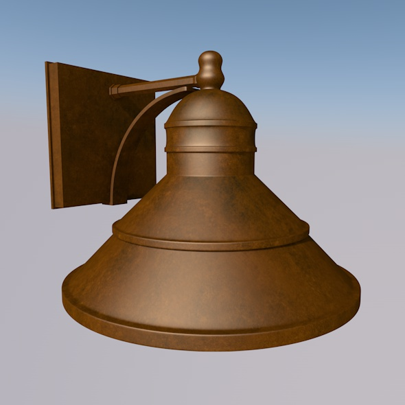 Low_Poly_Bronze_Wall_Light - 3DOcean Item for Sale