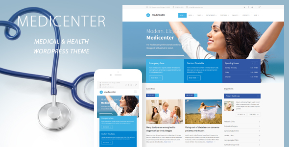 MediCenter - Responsive Medical WordPress Theme - Health & Beauty Retail