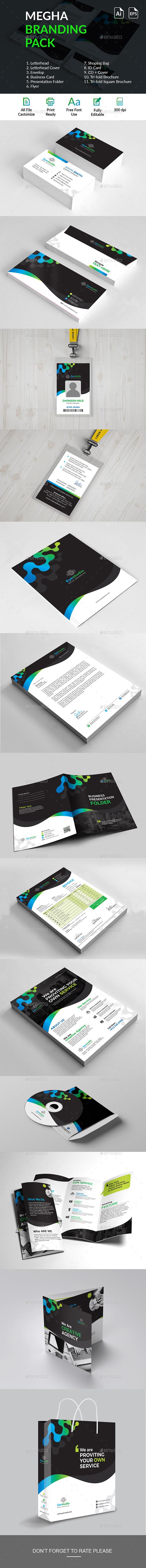 Mega Branding Identity - Stationery Print Templates