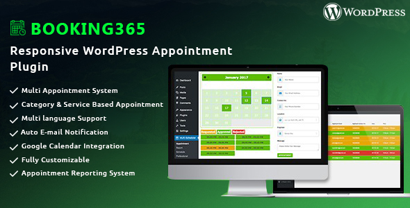 Download Booking365 – Responsive WordPress Appointment Plugin