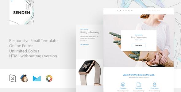 Senden – Responsive Email + StampReady Builder