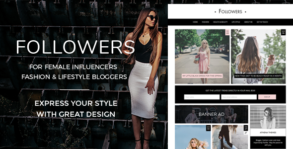 Followers - Fashion & Lifestyle WordPress Blog Theme for Social Media Influencers - Personal Blog / Magazine