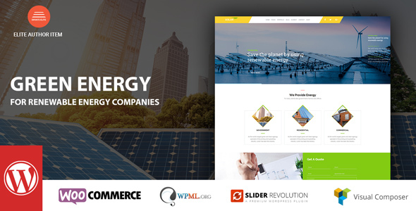 Green Energy - For Renewable Company WordPress Theme