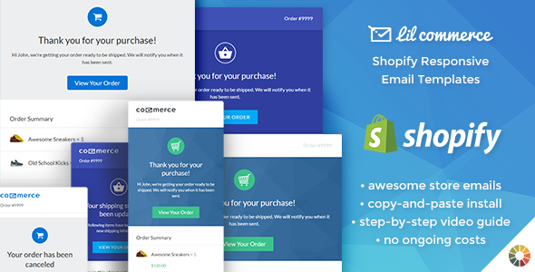 Lil Commerce – Shopify Responsive Email Templates