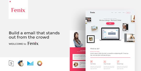 Fenix – Responsive Email Template Minimal