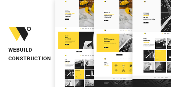 WeBuild Construction PSD Template