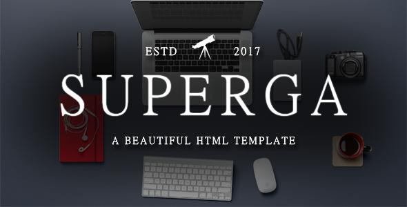 Superga – One-Page Clean Portfolio / Agency Template