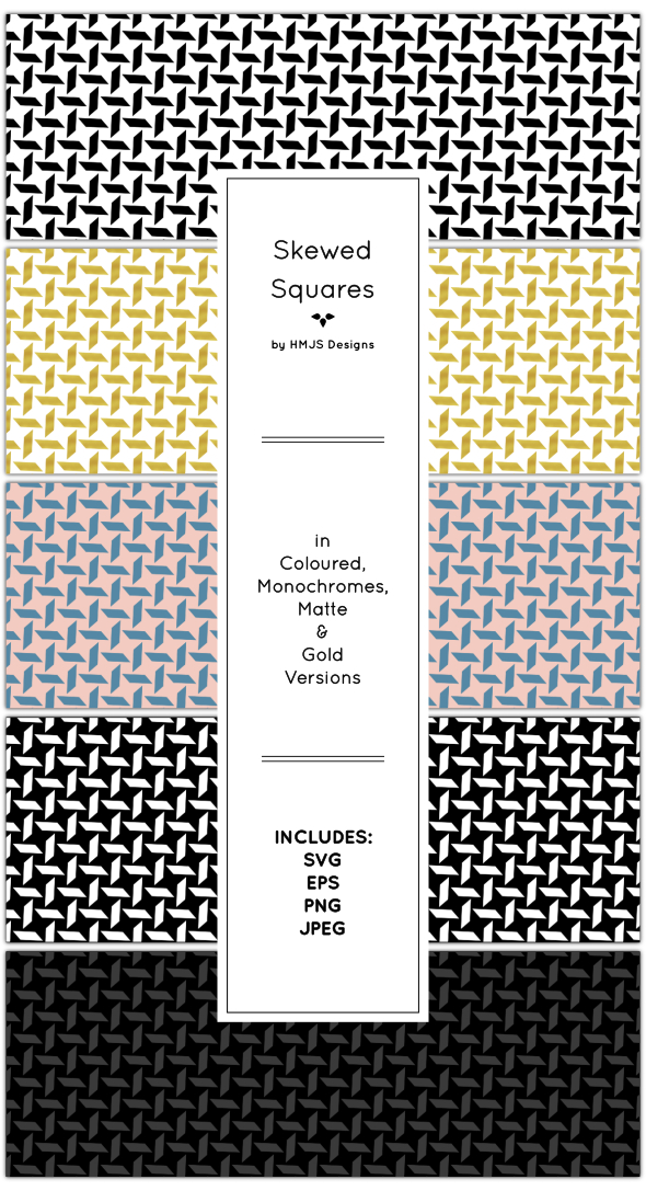 Skewed Squares Pattern Set - Textures / Fills / Patterns Illustrator