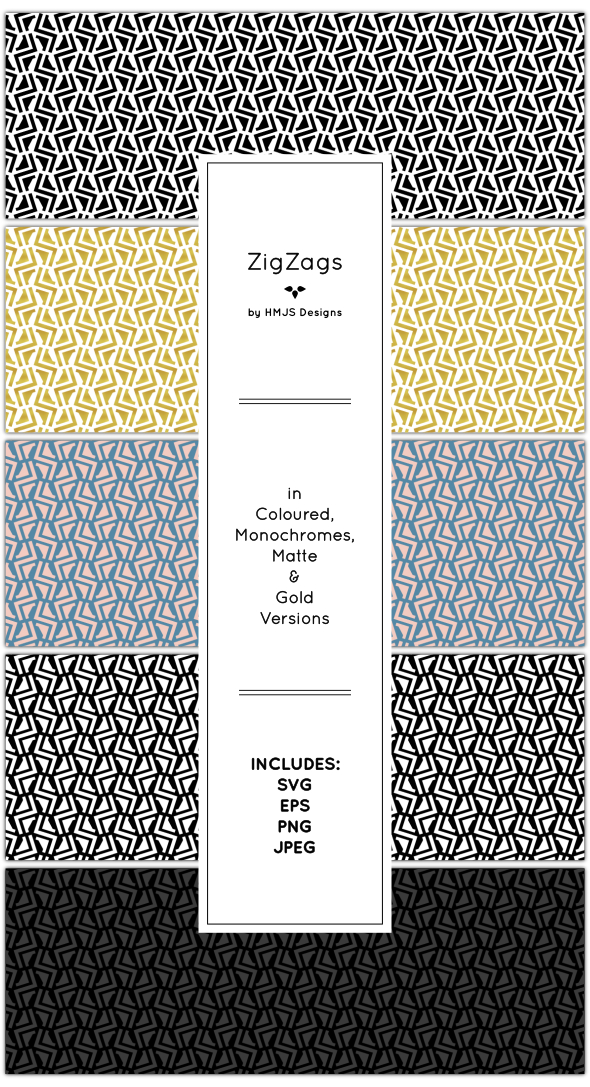 Zig Zag Pattern Set - Textures / Fills / Patterns Illustrator