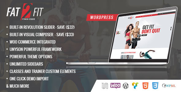 Fat to Fit, Sport and Gym WordPress Theme