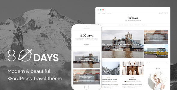 EightyDays - A WordPress Travel Theme For Travel Blogs