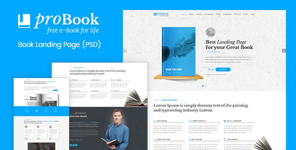 ProBook - Book Landing Page PSD - PSD Templates