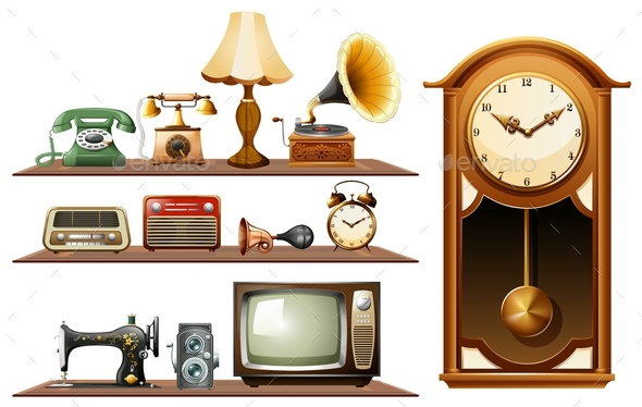 Different Kind of Vintage Objects - Man-made Objects Objects