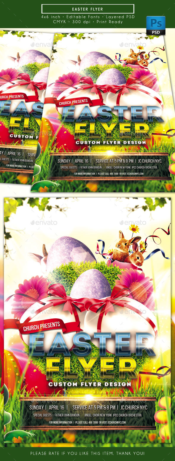 Easter Flyer - Church Flyers