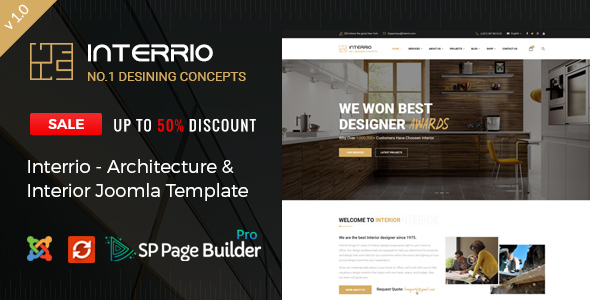 Interrio – Architecture & Interior design Joomla Template