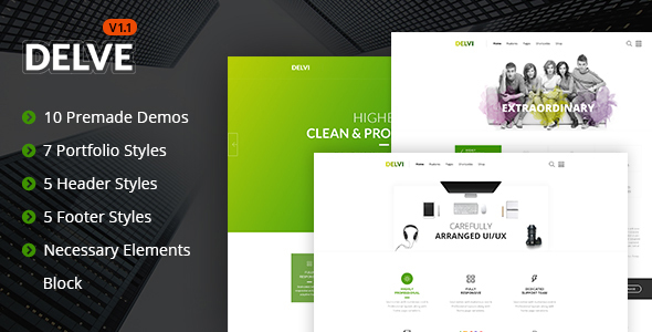 Delve - Responsive Multipurpose Template - Business Corporate