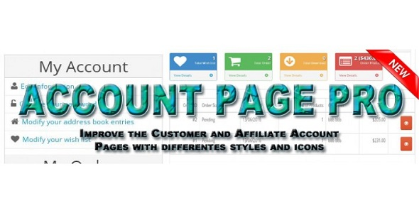 Account Dashboard Pro - Opencart Plugin - CodeCanyon Item for Sale