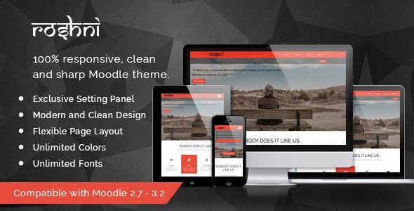 Download Roshni Moodle Theme nulled version