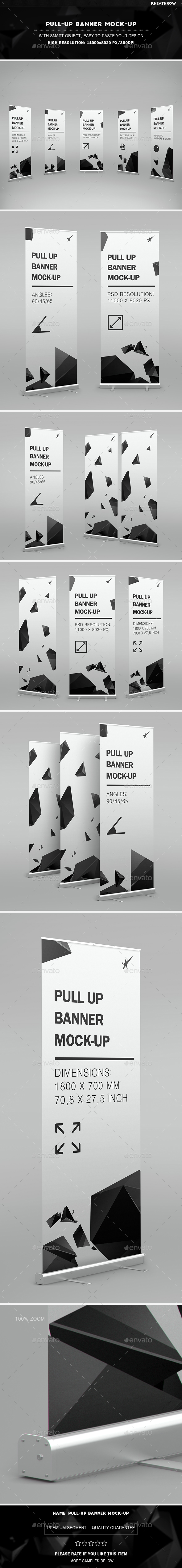 Pull-Up Banner Stand Mock-Up - Product Mock-Ups Graphics
