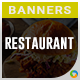HTML5 Restaurant Banners - GWD - 7 Sizes(Elite-CC-128) - CodeCanyon Item for Sale