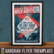 Retro Week Night Concert Flyer - GraphicRiver Item for Sale