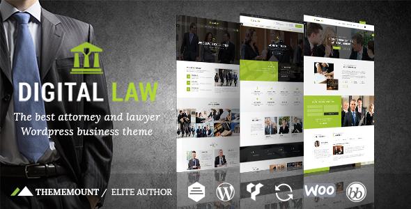 Digital Law | Attorney, Lawyer and Law Agency WordPress Theme