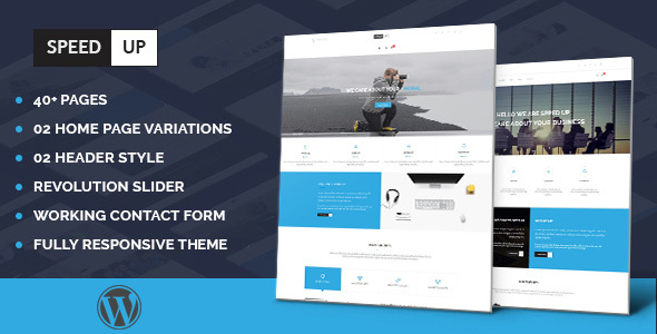 Speedup – Multipurpose Business Portfolio Responsive WordPress Theme