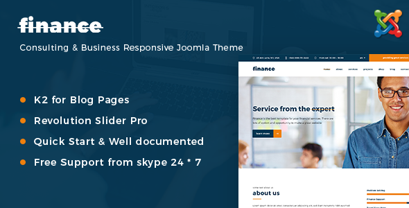 Finance - Consulting & Business Responsive Joomla Theme by joomlastars