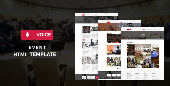 Voice – Event HTML5 Template