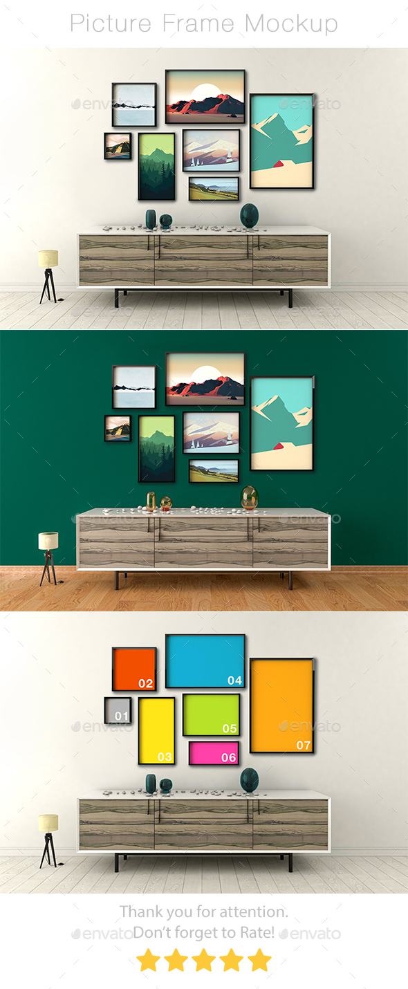 Picture Frame Mockup - Product Mock-Ups Graphics