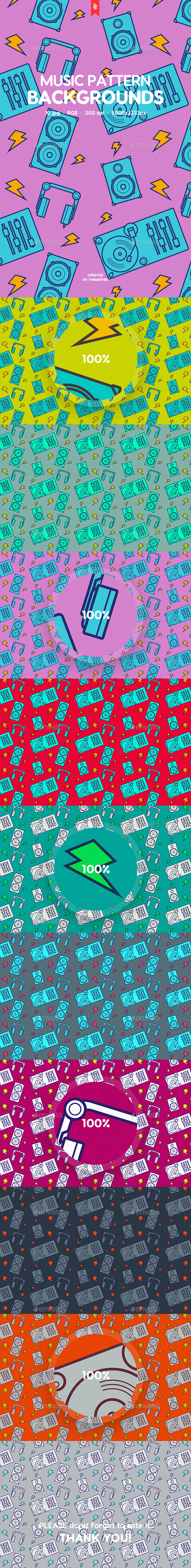 Funny Music Pattern Backgrounds - Patterns Backgrounds