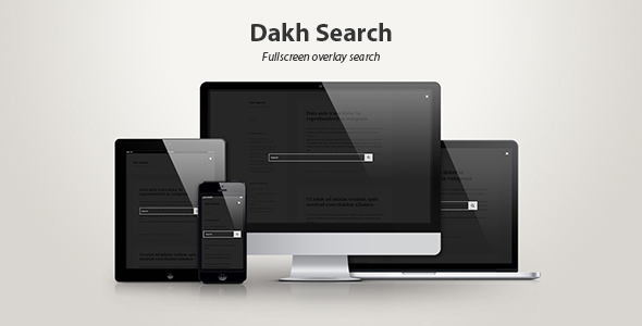 Dakh Search — Fullscreen Overlay Search - CodeCanyon Item for Sale