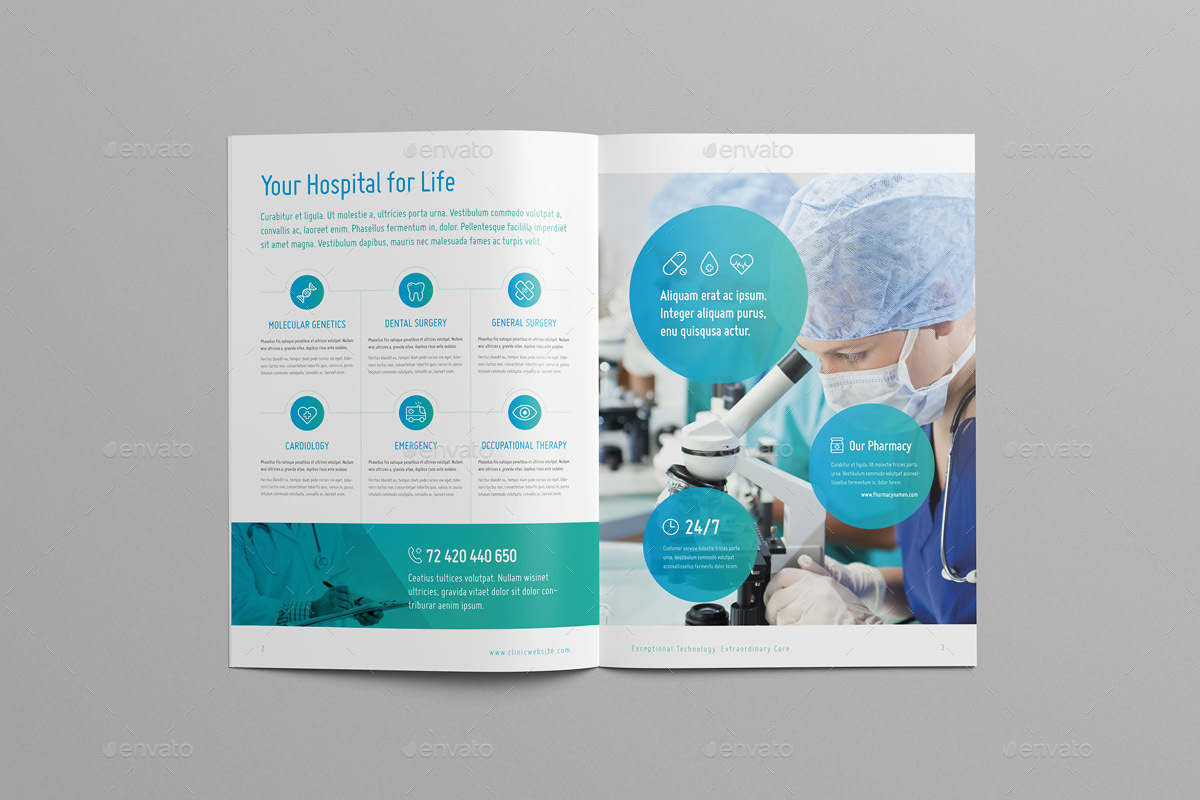 modern medical brochure by snowboy graphicriver
