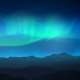 Green Aurora Over Night Mountains - VideoHive Item for Sale