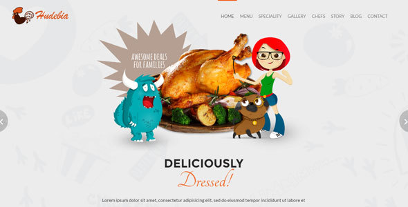 Restaurant Template - Hudebia - Restaurants & Cafes Entertainment