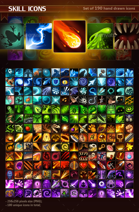Skill Icon Pack - Miscellaneous Game Assets