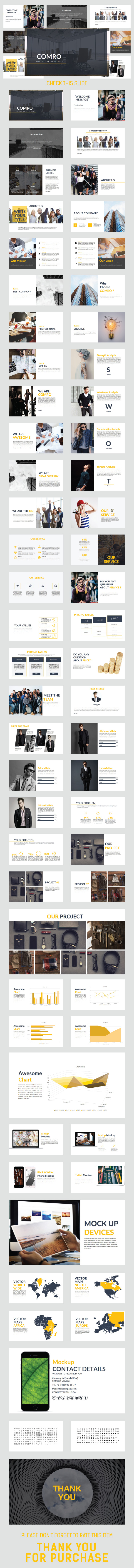 COMRO Multipurpose Template - Business PowerPoint Templates