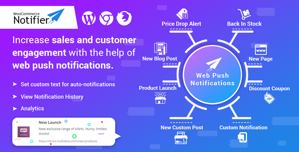WooCommerce Notifier – Send Web Push Notifications - CodeCanyon Item for Sale
