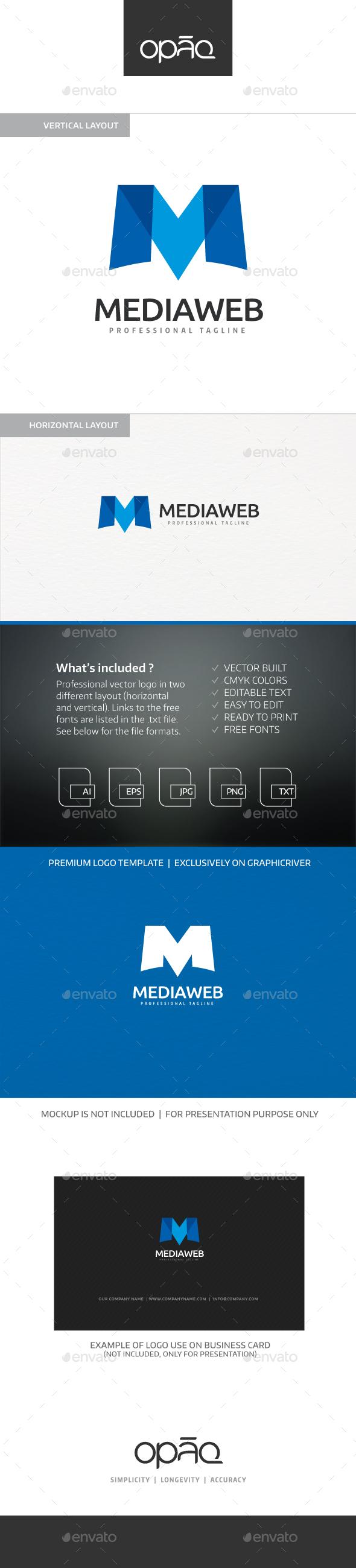 Media M Letter Logo - Letters Logo Templates