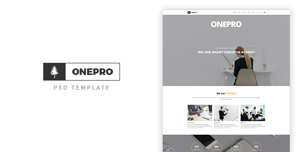 ONEPRO - Creative OnePage PSD Template - PSD Templates