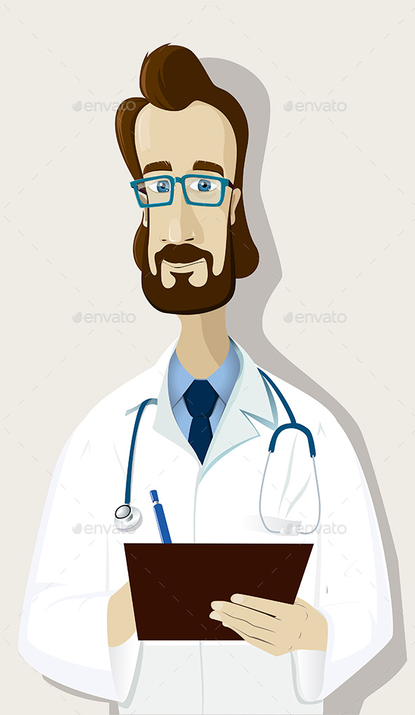 Doctor with Clipboard - People Characters