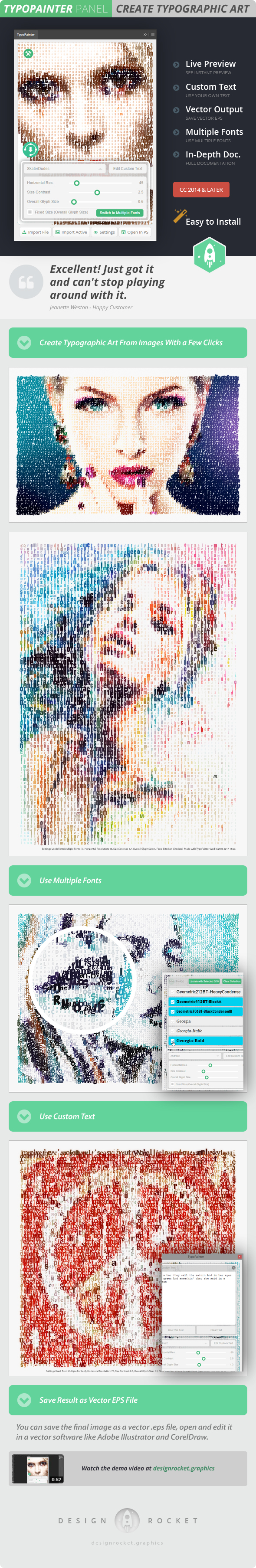 TypoPainter - Text Effects Actions