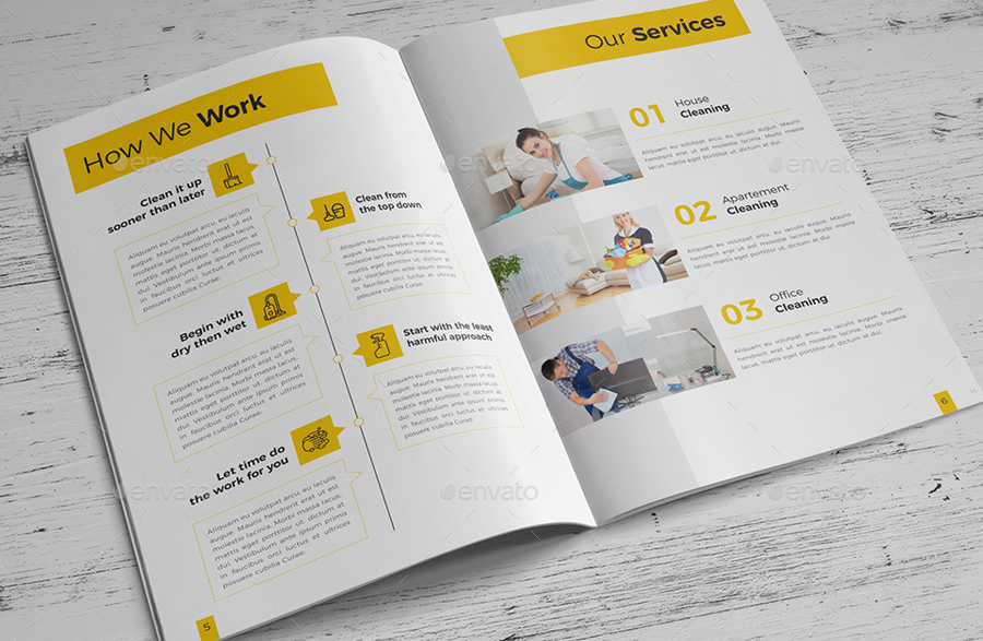 cleaning service company brochure by rahardicreative